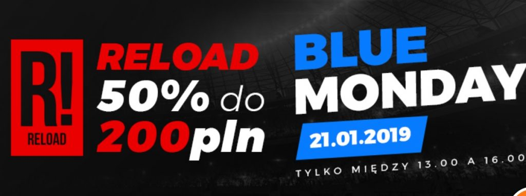 Bonus reload na Blue Monday tylko w Totolotku!
