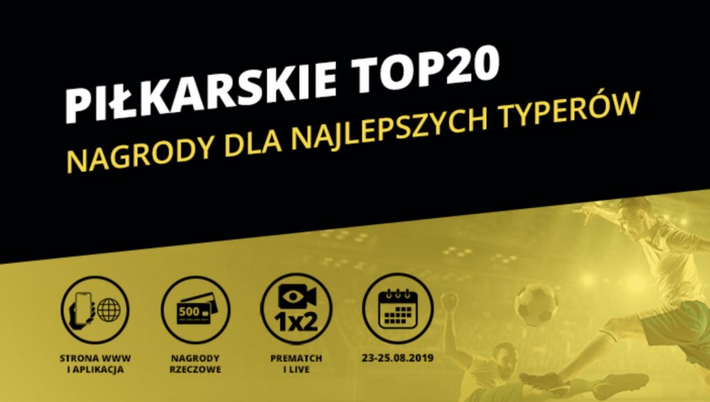 Fortuna konkurs na weekend. TOP 20 z piłki nożnej!
